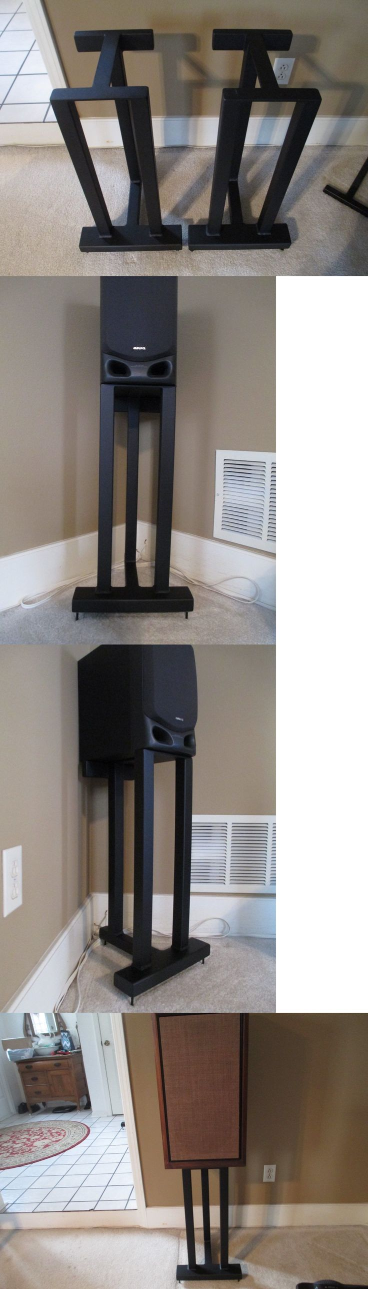 Speaker Mounts and Stands: Aandm Tricolumn Pedestal Stands 24 Tall 8 W X 11 D Platform Heavy 11 Gauge Steel -> BUY IT NOW ONLY: $350 on eBay!