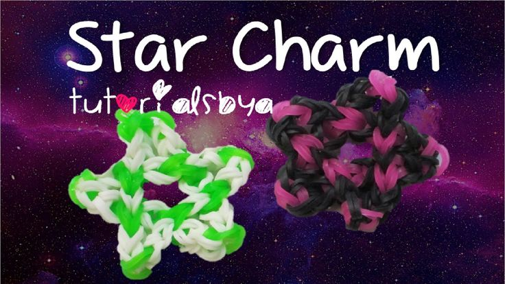 Star Charm Rainbow Loom- Design Inspired by JustinsToys; Tutorial by Tut...