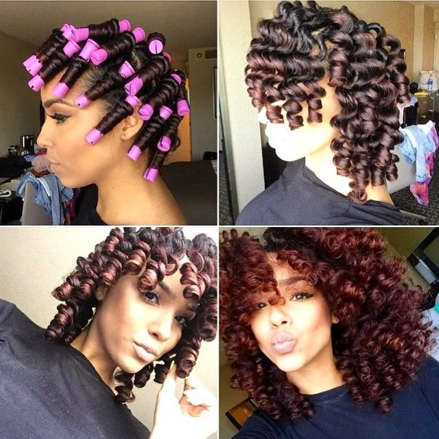 HAIRSPIRATION| Love this #permrods #transformation on @__Lipstickncurlss__❤️ She used @Cremeofnature shine & style mousse & 7-in-1 Leave in Spray Those curls are popping➰➰➰ #VoiceOfHair ========================= Go To: www.VoiceOfHair.com =========================  Free eBook on Hairstyles for Black Women