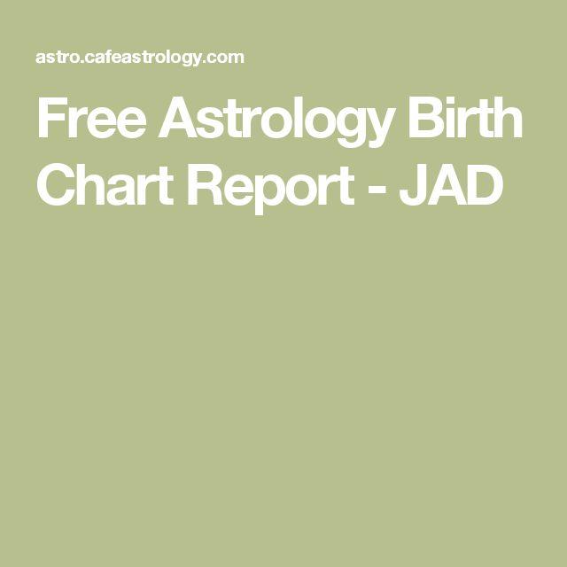 Free Astrology Birth Chart Report - JAD