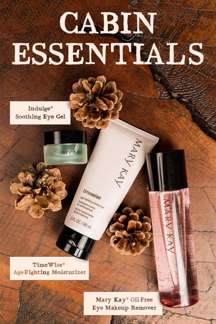 Into the woods we go for a fall getaway! But not without our cabin beauty essentials. Hydrate skin for up to 10 hours with TimeWise® Age-Fighting Moisturizer! | Mary Kay