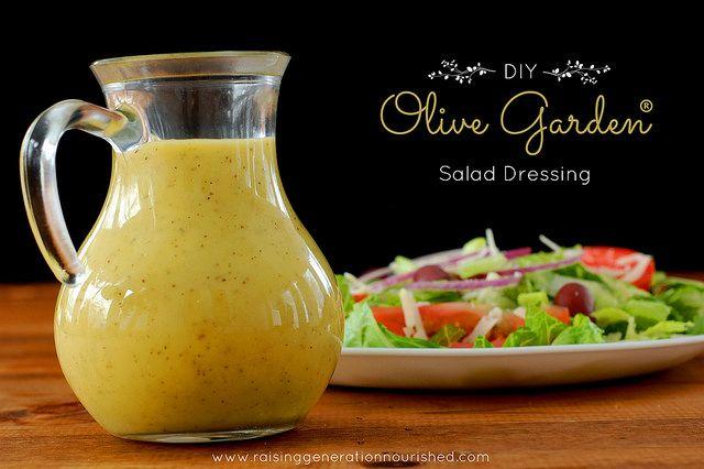 DIY Clean Homemade Olive Garden Salad Dressing