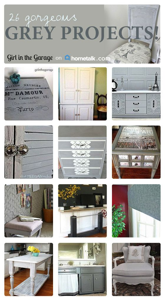 Grey is the new black! Check out these awesome grey projects!