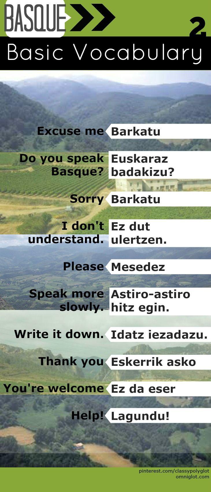 Basics | Euskara