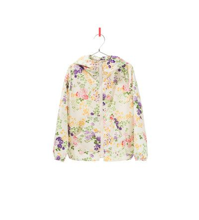 PRINTED RAINCOAT from Zara. Perfect for rainy near-end summer days