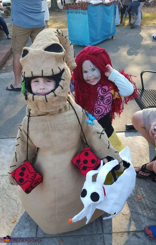 Oogie boogie and Sally - 2016 Halloween Costume Contest via @costume_works