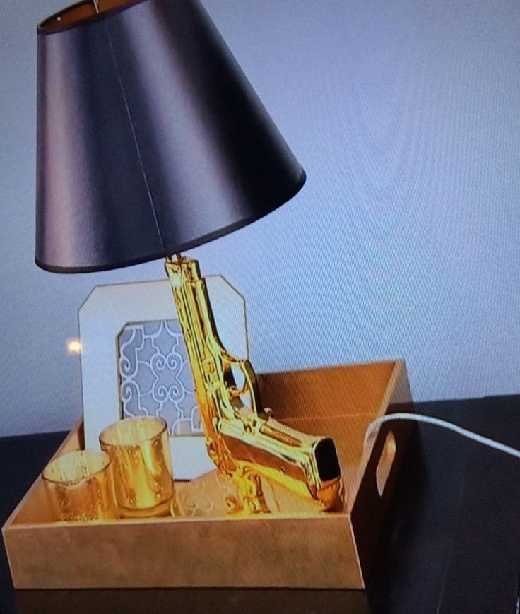 Stassi Schroeders Gold Gun Lamp