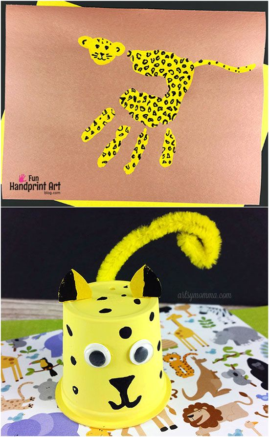 Cutest Ever Cheetah Craft Ideas to Make with Kids - Handprint Cheetah