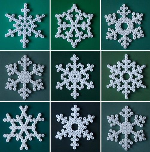 hama pärlor snöflinga - Google-haku