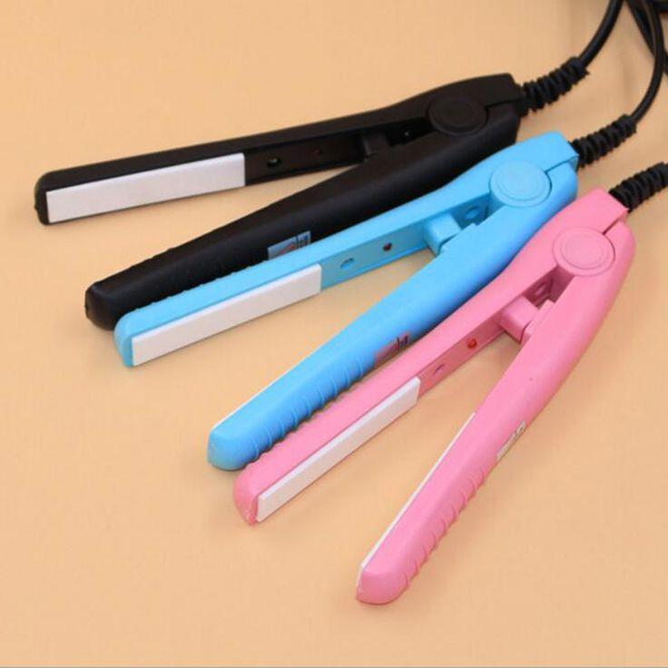 Mini Redresseur De Cheveux De Fer Rose En Céramique Électronique Chapinha Nano Titanium Défrisage Ondulé Curling Styling Outils