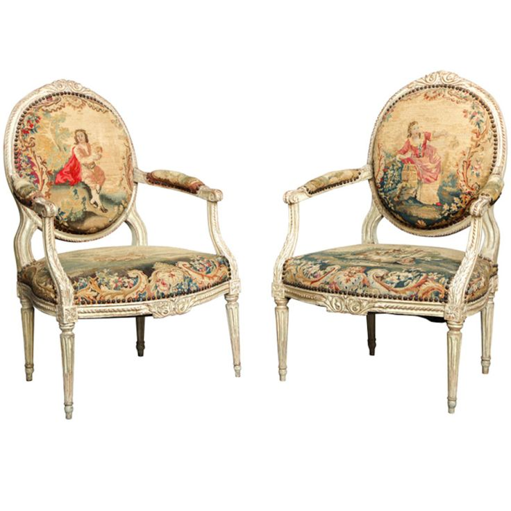 Pair of 18th Century Louis XVI Chairs - 952 Best Furniture Images On Pinterest Sofas, Antique Furniture