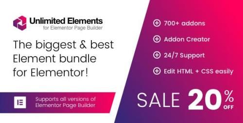 CodeCanyon - Unlimited Elements for Elementor Page Builder