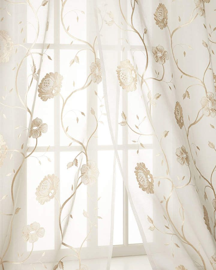 French Country Crochet Lace Cutwork Embroidery Net Curtain Tap Panel Damask