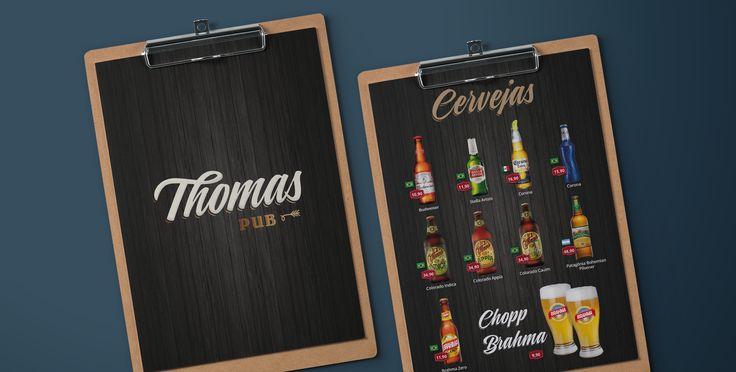 #graphicdesign #brandidentity #branding #logo #logotipo #sinalização #thomaspub #restaurantlogo #pub #bar #musendesign #designqueinspira