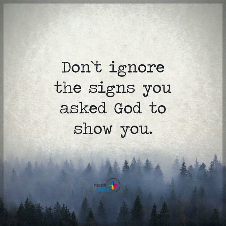 Christian Living: Don't Ignore The Signs More