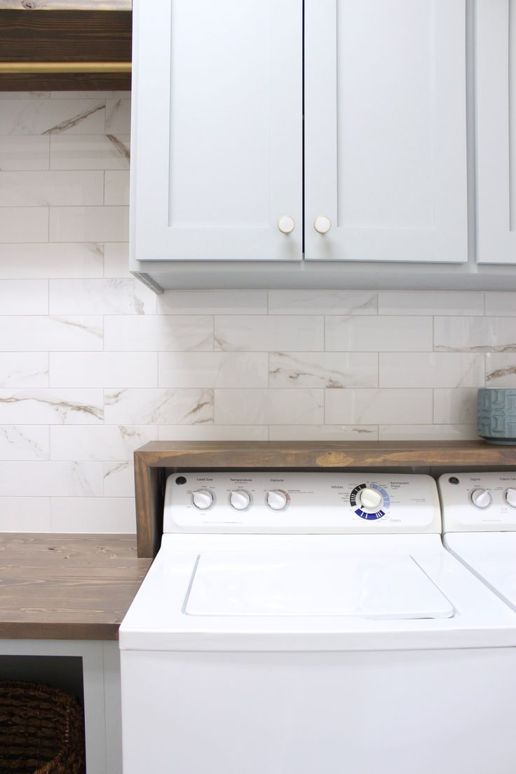 Laundry Room DIY Renovation - Frills and Drills | Laundry ...
