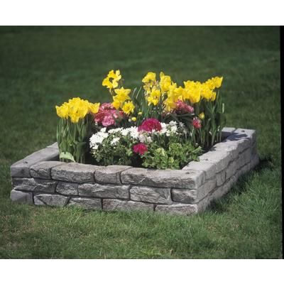 RTS Home Accents Rock Lock Raised Garden Bed 4 Straight Pieces Four