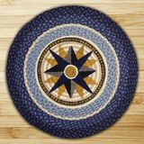 Earth Rugs® Compass Round Braided Rug