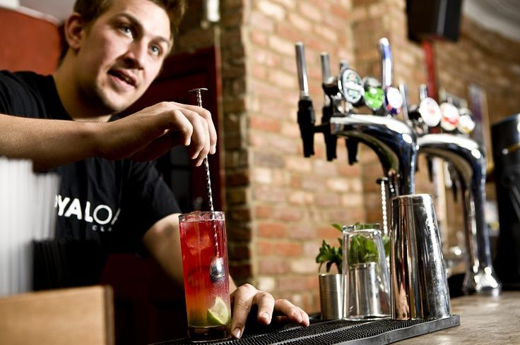 Mixologist James Trevillion mixes us up cocktails at The Royal Oak in Clapham - cocktails can give you theatre and profits!