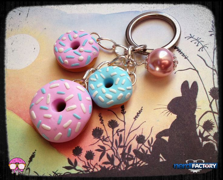 Donuts key ring, hand-made! http://www.thenfactory.com/prodotto/donuts/