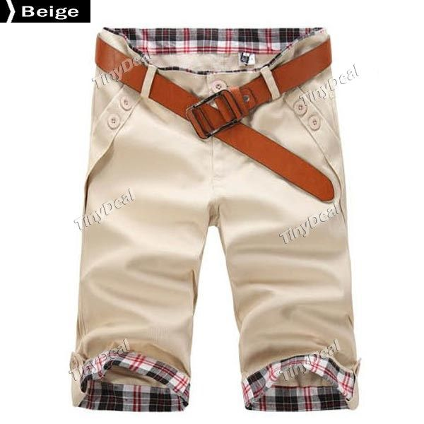 Waist&Hem Chest Patchwork Cotton Blend Half pants Trousers for Boy Men DCD-310499