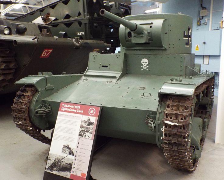 Soviet T-26 Model 1933 Light Infantry Tank 1938-45 Tank Museum Bovington