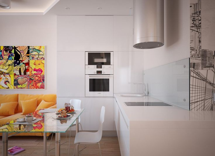 «Northern Europe» Apartments by «Grafit Architects» bureau #apartments #design #interior #kitchen