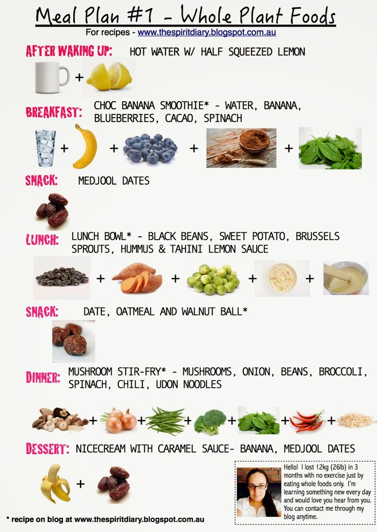Daily Meal Plan, Vegetarian