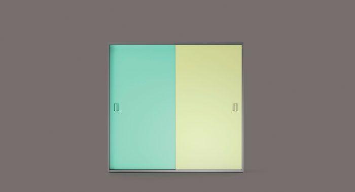 Life box AR08. Armario de puertas deslizables con tirador antifaz