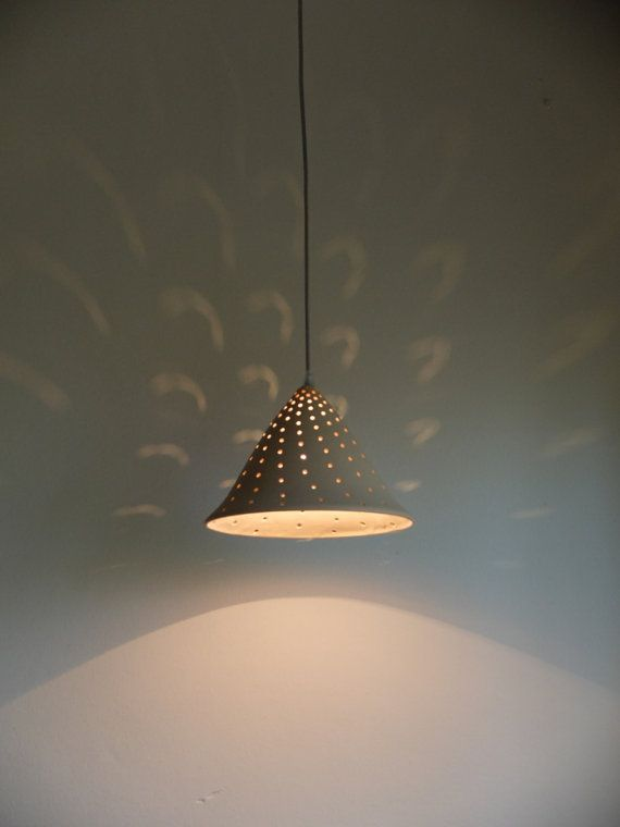 Mesmerizing dots in cream color  > Dimensions Light Fixture Size: 10 (25 cm) in diameter, 8.2 (21 cm) height  Metal Base: 4 (10 cm) in diameter, height