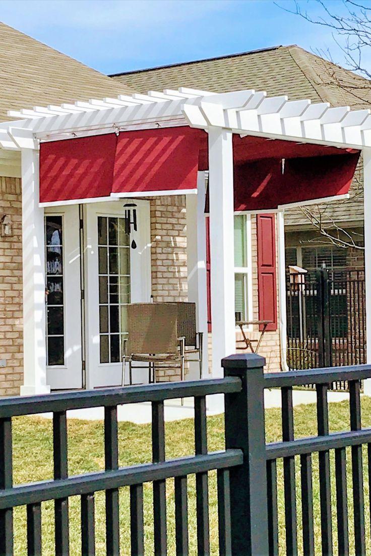 Add fabric retractable shades to my backyard pergola or ...