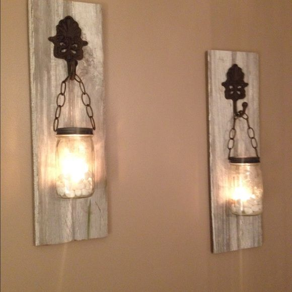 1000+ ideas about Mason Jar Sconce on Pinterest Barn Wood Decor, Sconces and Sconce Lighting