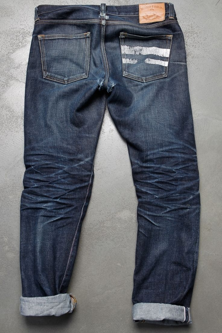 """Raw denim (sometimes called """"dry denim"""") jeans are simply jeans made from denim that hasn't gone through this pre-wash process. Because the fabric hasn't been pre-washed, raw denim jeans are pretty stiff when you put them on the first time."""