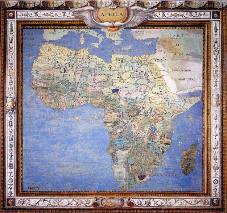 EUROPEAN MAP OF AFRICA, 1573: SALA DELLA COSMOGRAFIA, PALAZZO FARNESE, CAPRAROLA.