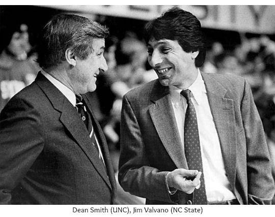 Dean Smith and Jim Valvano