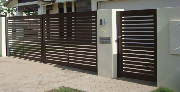 Simple and elegant electric gate #gate #automaticgate #SwingGate