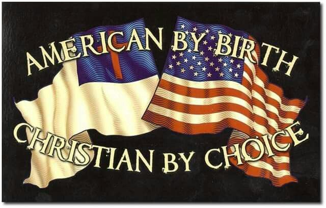 American by birth, Christian by choice.