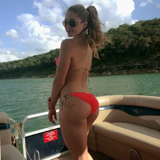 Woman wonderful scrunch butt bikini