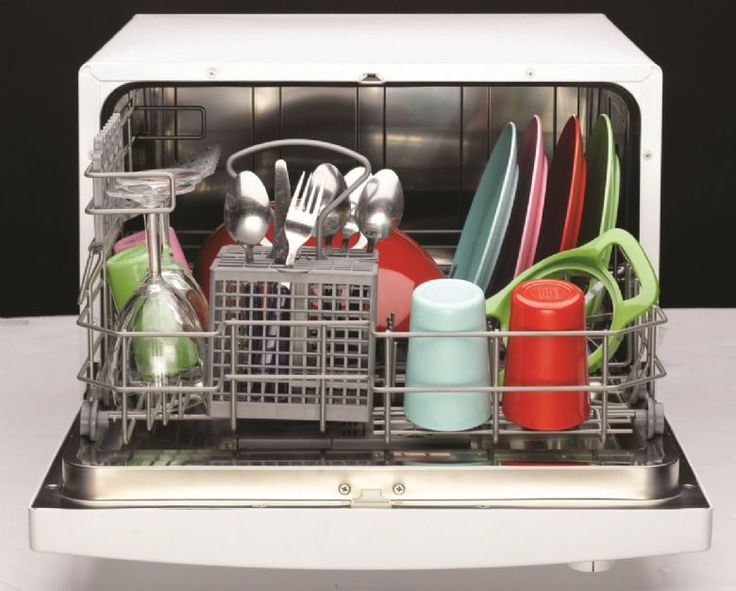 """Have you been letting the dishes """"soak"""" for more than 2 weeks? This tabletop dishwasher is so small that just about anyone can own one! Now your roommate can stop leaving you passive aggressive notes."""