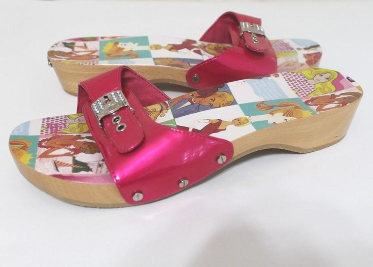 Dr Scholls Barbie 9 Pink Strap Wood Sandals Slide Slip on Shoes Mattel Rare | Clothing, Shoes & Accessories, Women's Shoes, Sandals & Flip Flops | eBay!