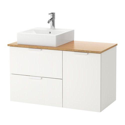 GODMORGON/TOLKEN / TÖRNVIKEN Meuble lavabo av lav à poser 45x45 IKEA