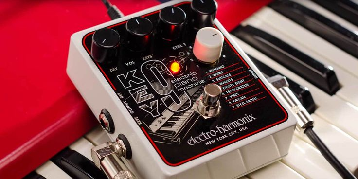 Following in the wake of the much-celebrated C9 and B9 Organ Machine pedals, Electro-Harmonix announced this week the release of a new electric piano emulation effect dubbed the KEY9 Electric Piano Machine.
