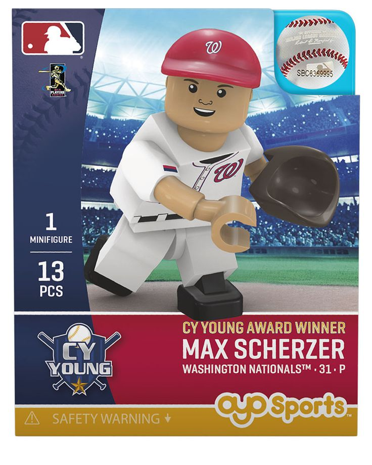 Washington Nationals MAX SCHERZER CY Young Award Limited Edition OYO Minifigure