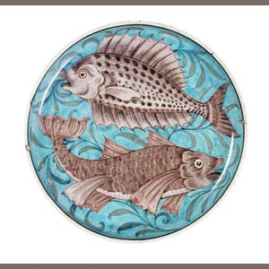 More fish plates for my collection. These are really ornate...(William De Morgan)