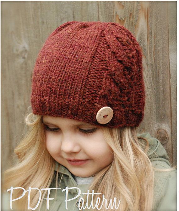 Knitting PATTERN-The Leighton Cloche' (0/3 months, 3/6 months, 6/12 months, Toddler, Child, Adult sizes). $5.50, via Etsy.
