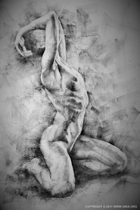 Figure Drawing by Dimitar Hristov - 54ka SketchBook :: drawing, charcoal, sketch, female, art, figure