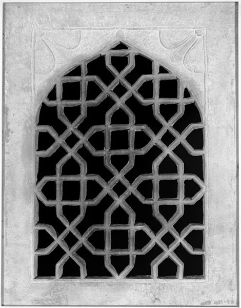 Jali or screen carved and pierced sandstone agra 19th for Window design jali