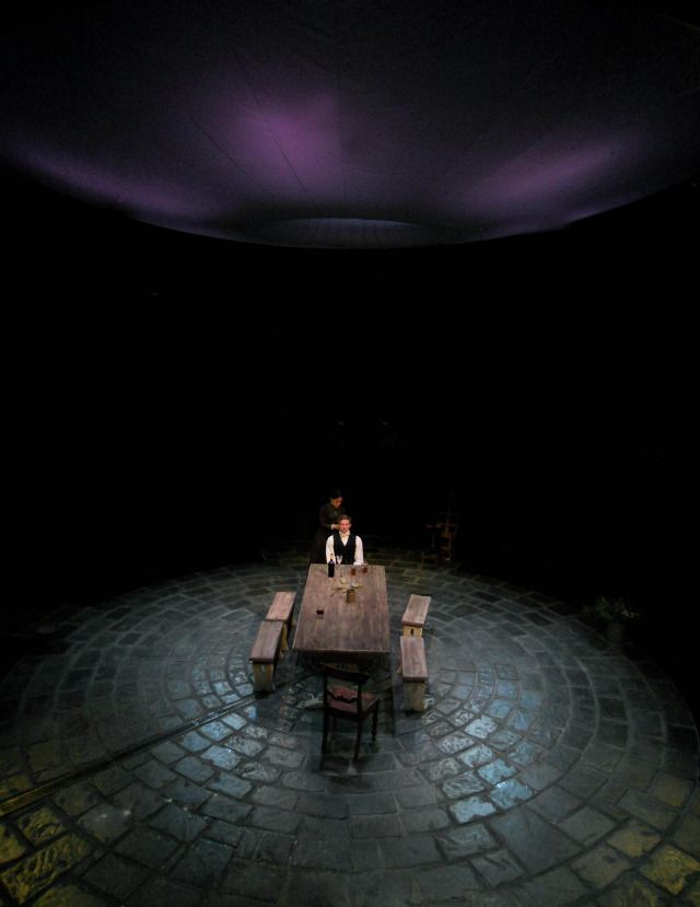Miss Julie The Manchester Royal Exchange. Scenic design by Max Jones.