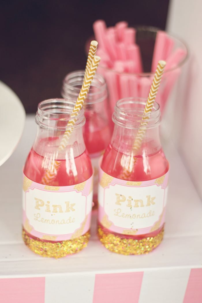 An Adorable Pink Lemonade themed birthday party via Kara's Party Ideas KarasPartyIdeas.com Printables, cake, invitation, desserts, supplies, etc! #lemonadestand #pinklemonadeparty (17)