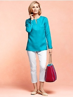 Linen Tunic and Crop Pants